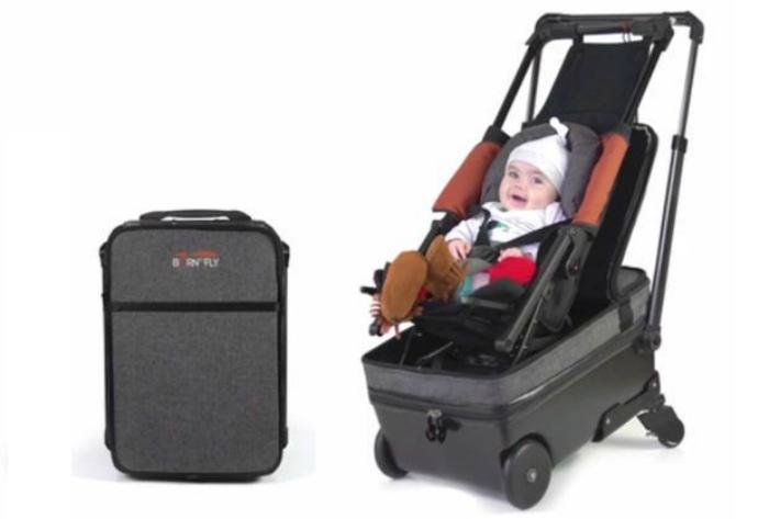 Чемодан с сиденьем для младенца.