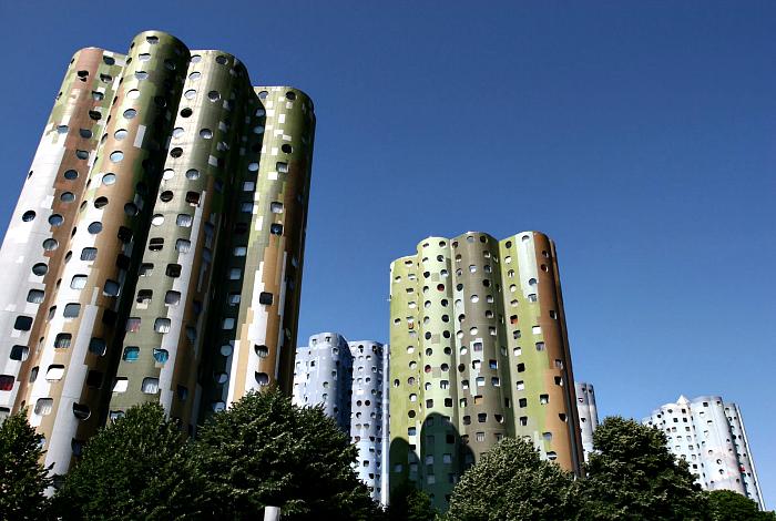 Жилой комплекс без углов в пригороде Парижа.