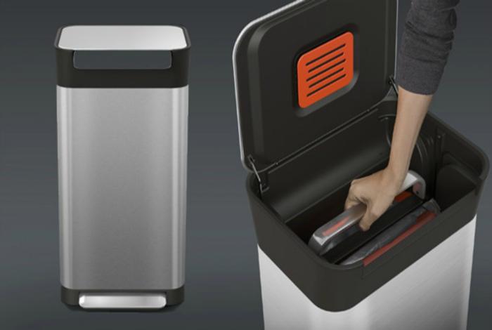 Мусорное ведро с крышкой для прессовки. | Фото: Оптимсайт, Хайтек агрегатор.