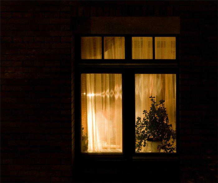 Включенный свет дома. | Фото: LiveInternet.