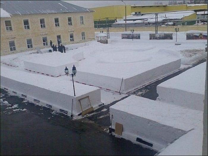 Филигранная уборка снега.