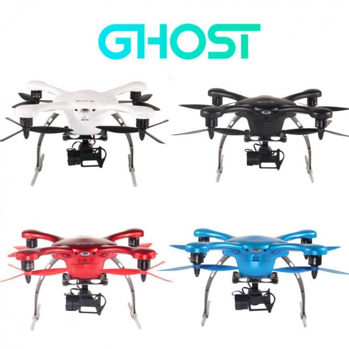 Революционный дрон Ghost, управляемый с помощью специального приложения для смартфонов, которое позволяет с легкостью менять курс его направления, сажать его и поднимать в воздух и делать снимки на встроенную камеру GOPro.