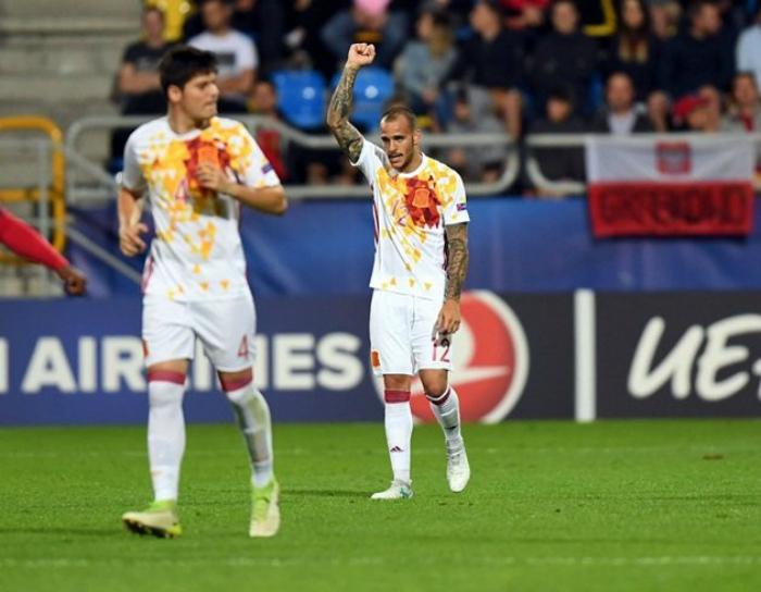 Форма испанских футболистов.