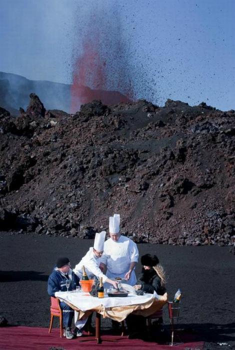 Романтическая обстановка у вулкана. | Фото: Sabedenada.