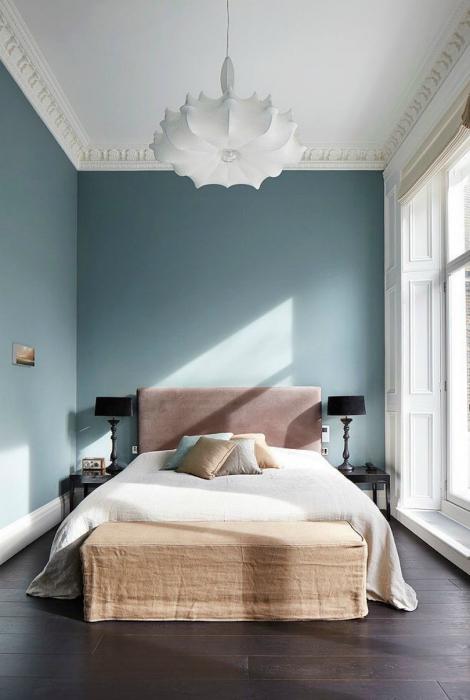 Контрастная спальня.
