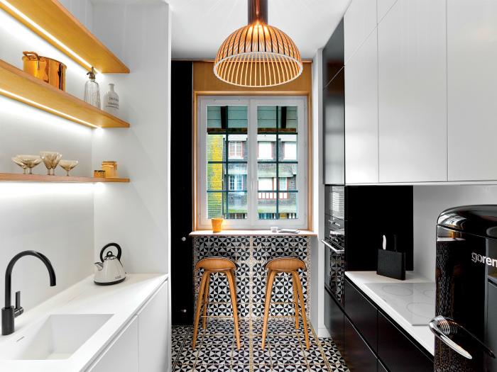 Фантастические акценты в кухне. | Фото: Interior Design.