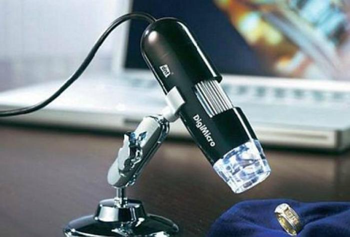 Цифровой USB-микроскоп, который поможет разглядеть самые мелкие детали.