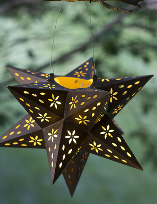 Фонарик в стиле оригами.