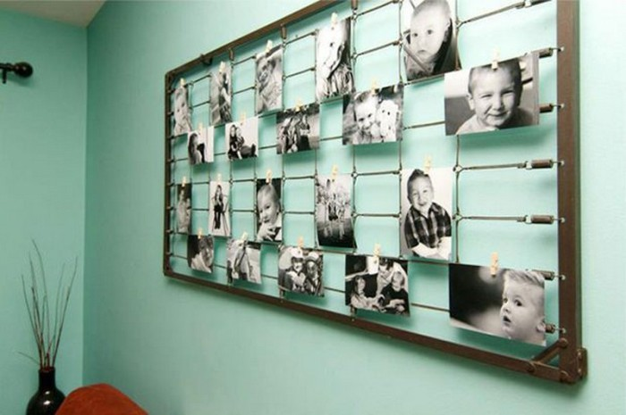 Как сделать фотографии на стене