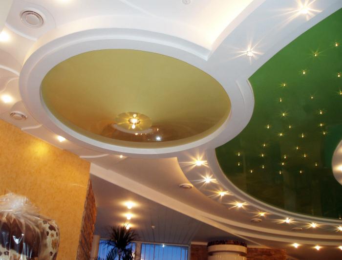 Многоуровневые потолки из гипсокартона.
