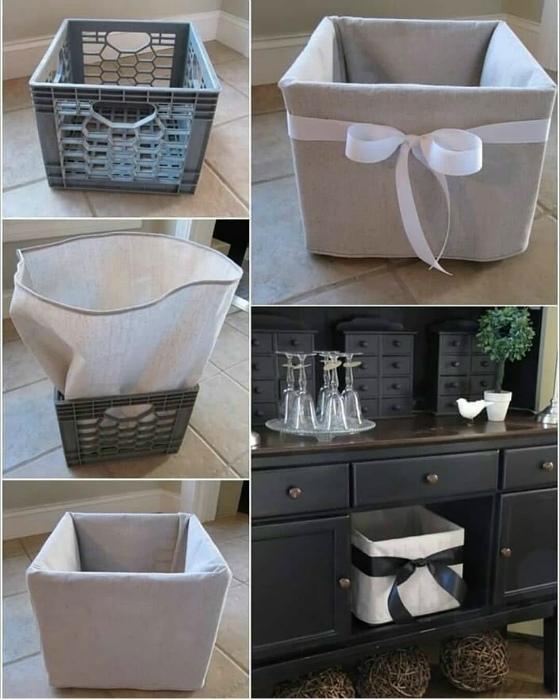 Декоративные корзины для хранения. | Фото: Happynest.