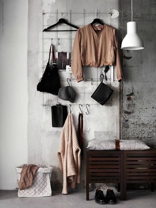 Прихожая в индустриальном стиле. | Фото: Pinterest.