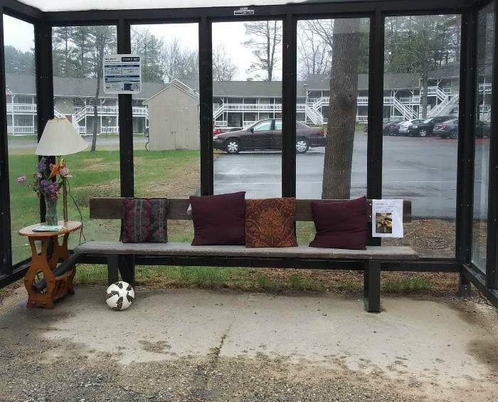 Оригинальная автобусная остановка. | Фото: Pressa.tv.