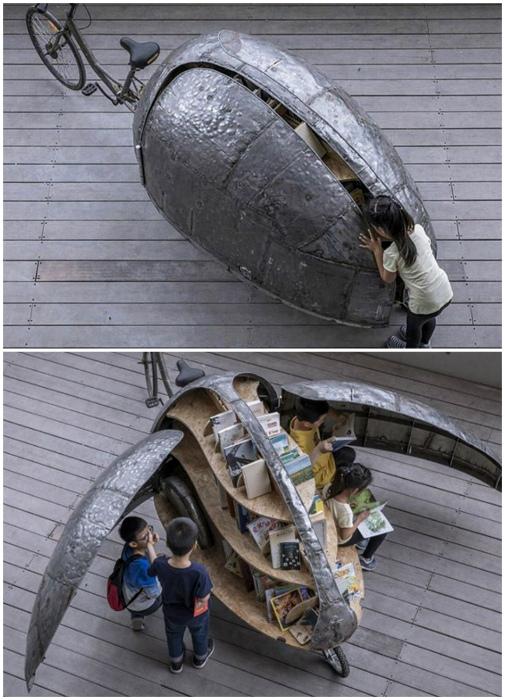 Передвижной стеллаж. | Фото: Gramha.net.