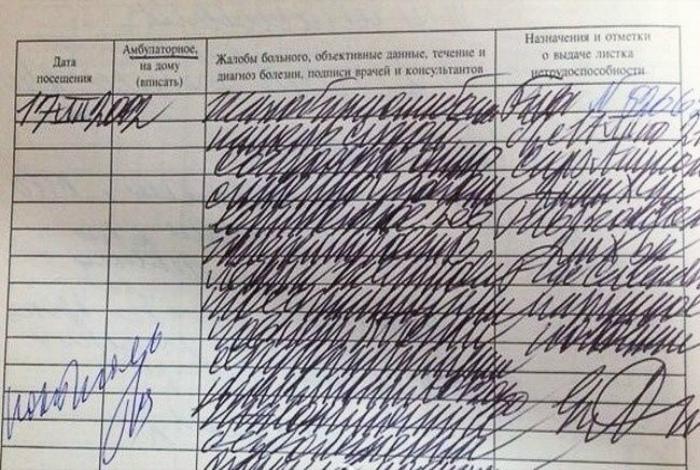 Почерк врачей и печальные последствия. | Фото: Постила.