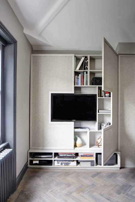 Шкаф с телевизором.   Фото: Lakbermagazin.
