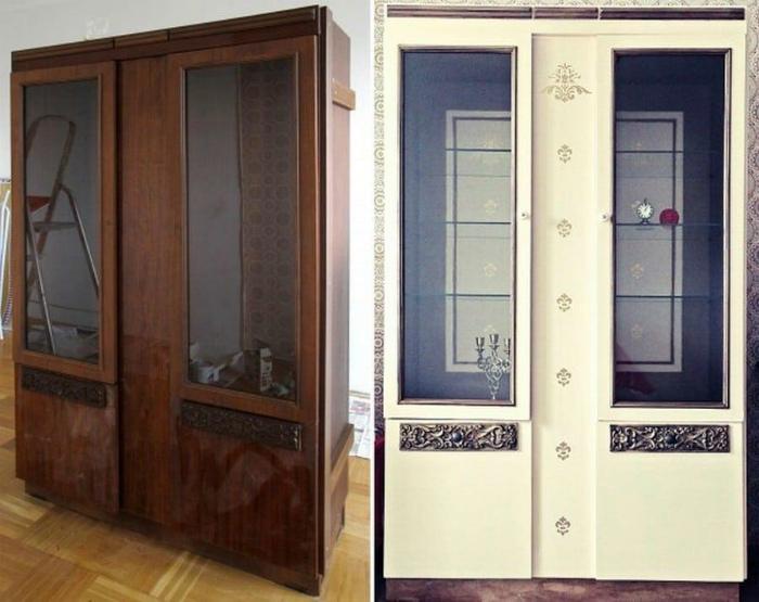 Трансформация советского шкафа. | Фото: Чёрная логика.