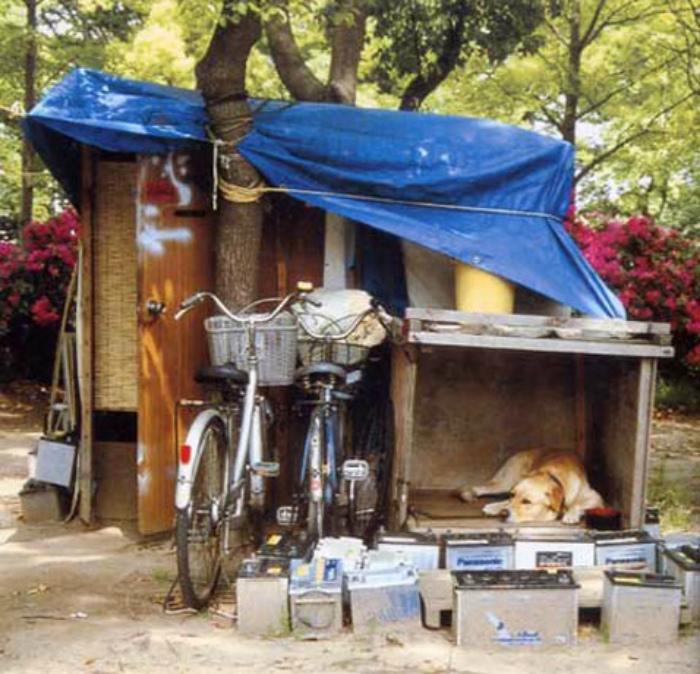 «Дворцы» бездомных. | Фото: Bomz.org.