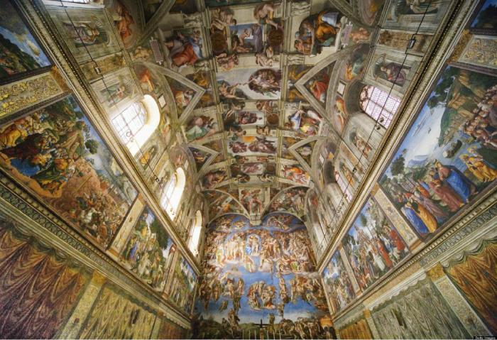 Роспись потолка Сикстинской капеллы представляет собой известнейший цикл фресок Микеланджело, считающийся одним из признанных шедевров искусства Высокого Возрождения.