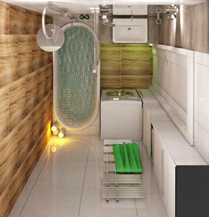 Ванная комната в стиле эко.