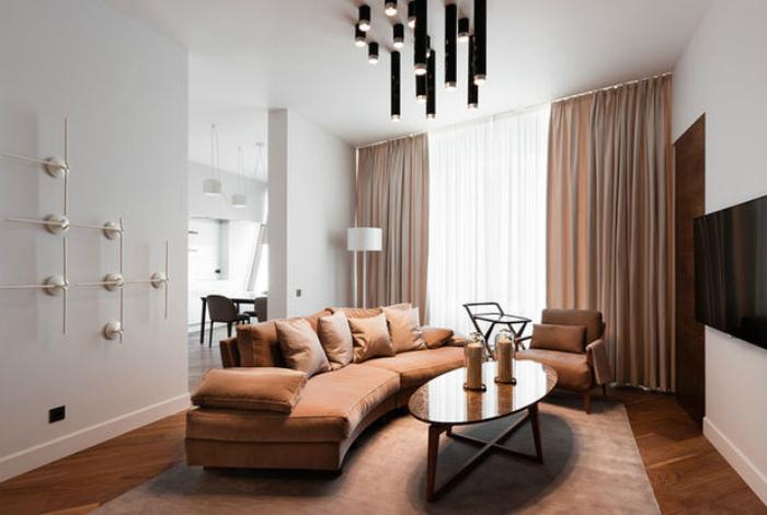 Современная гостиная в классическом стиле.