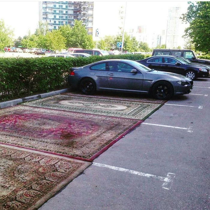 VIP-места на парковке.