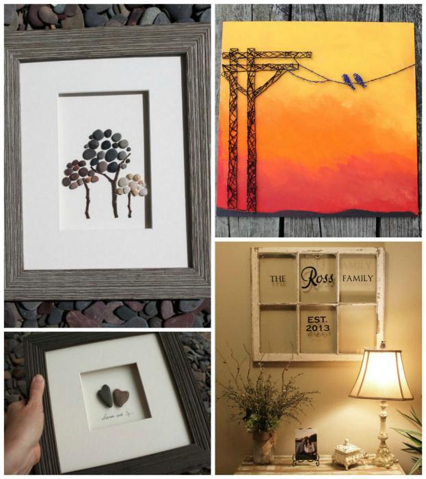 Оконные рамы, ветки, бусины, бисер, камни, ракушки - прекрасные материалы для создания фантастических картин и инсталляций, которые добавят индивидуальности квартире.