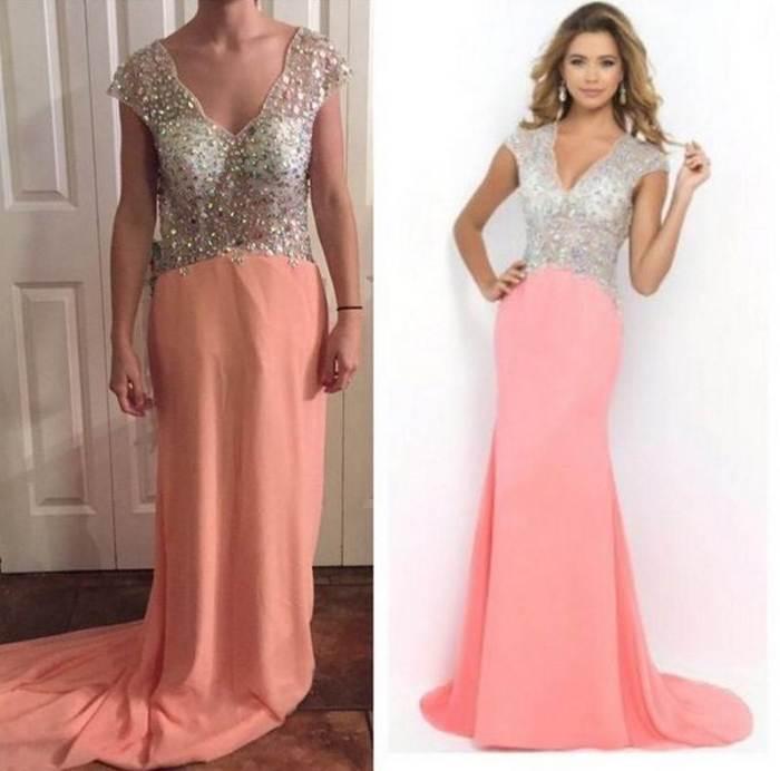 Роскошное вечернее платье.