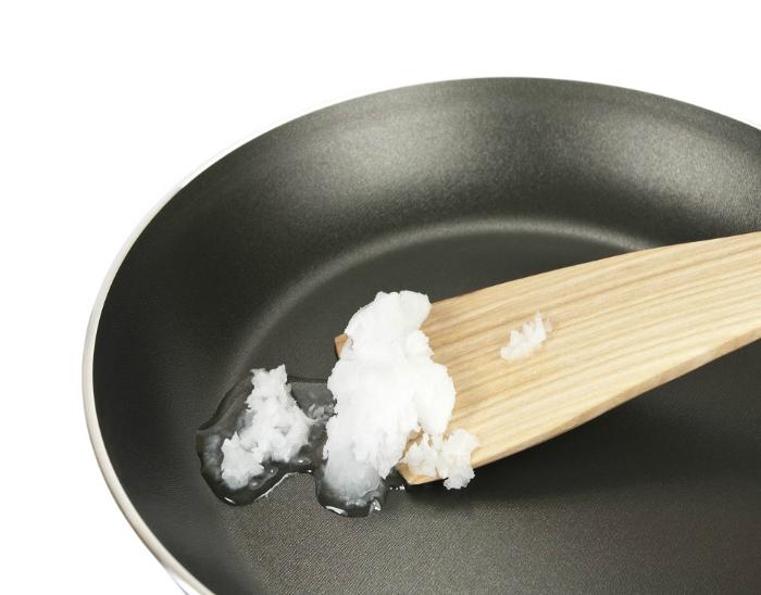 Кокосовое масло для жарки рыбы и мяса.