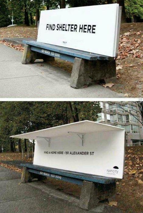 Скамейки с подъемными козырьками. | Фото: Klimalar.