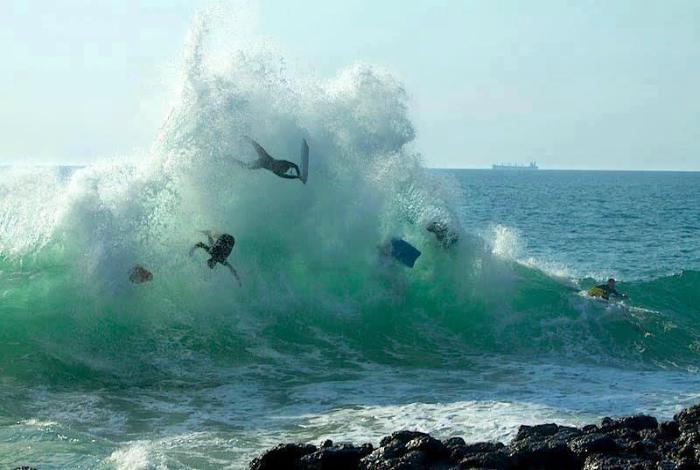 Опасная сторона серфинга.
