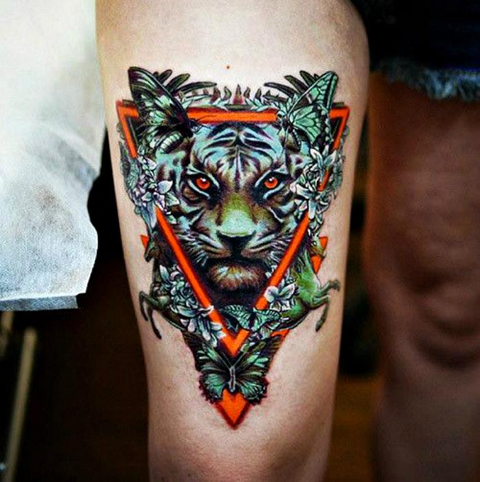 Татуировка с изображением Тигра.