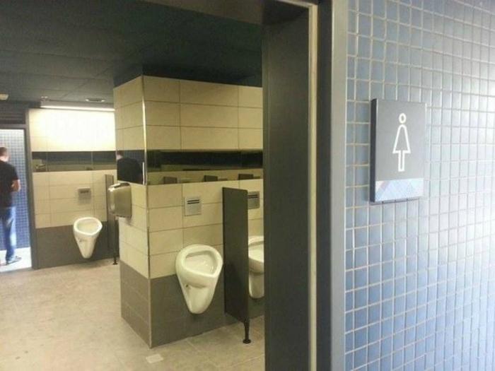 Женский туалет.
