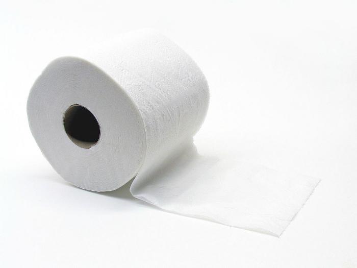 Использование туалетной бумаги.