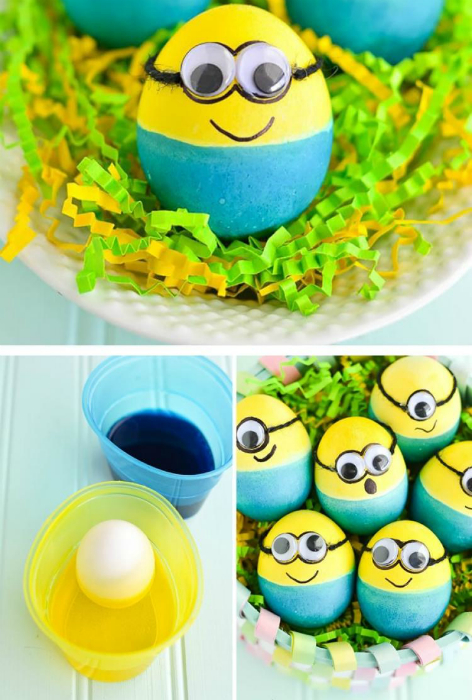 Яйца «Миньоны».