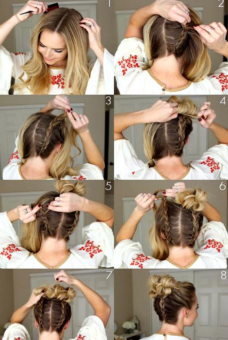 Два пучка с косами.