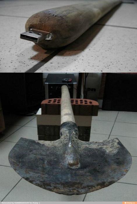 Флешка, встроенная в... лопату.