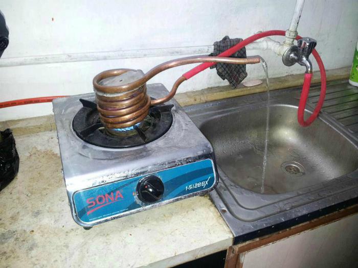 Бюджетный водонагреватель.