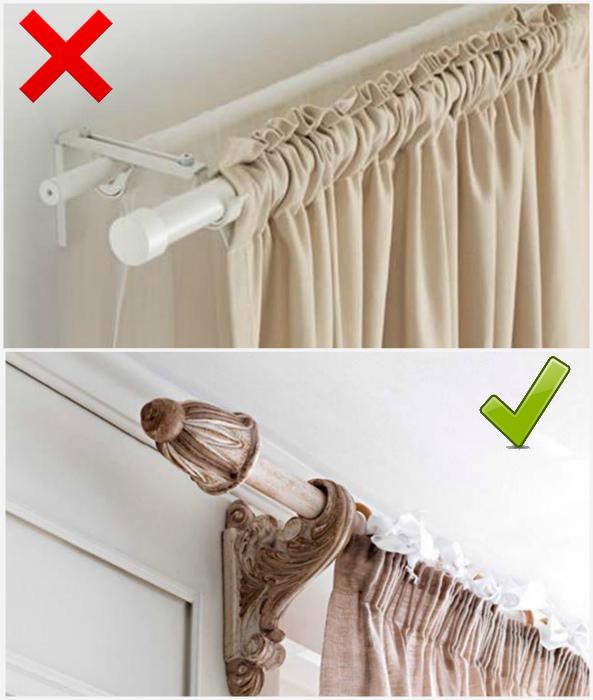 Правильный карниз для штор. | Фото: Fani klubu IKEA.