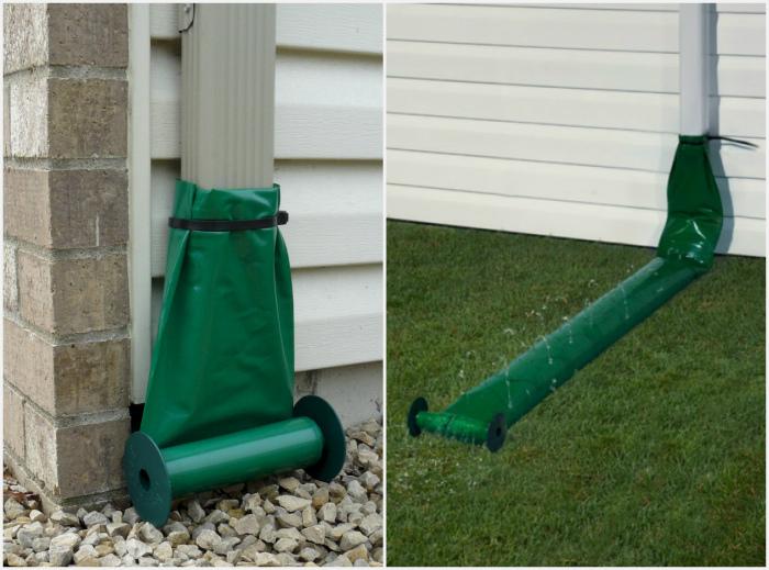Рукав для сбора сточных вод. | Фото: 12dee.com, Gutter Cleaning.