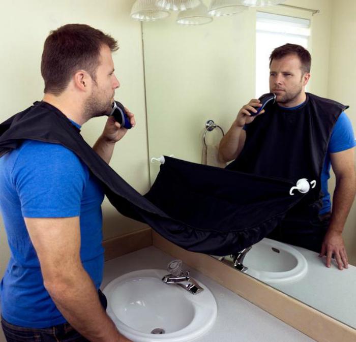 Защитный фартук для бритья.