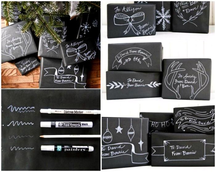 Рисунки на упаковочной бумаге.