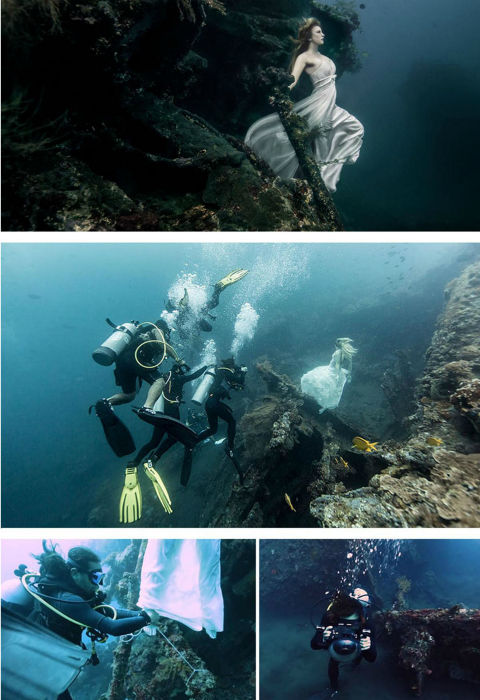 Закулисье подводной съемки.