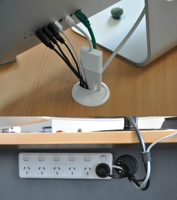 Спрятать компьютерные провода.