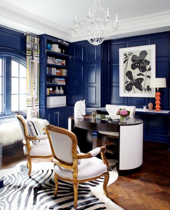 Интерьеры в синем цвете.
