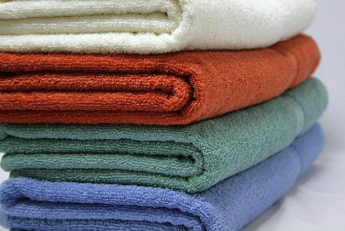 Старые полотенца.
