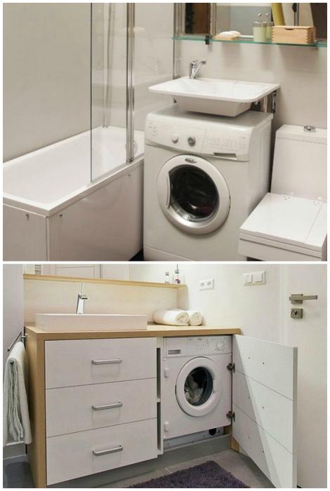Место для стиральной машины. | Фото: dph2010.info, yandex.uz.