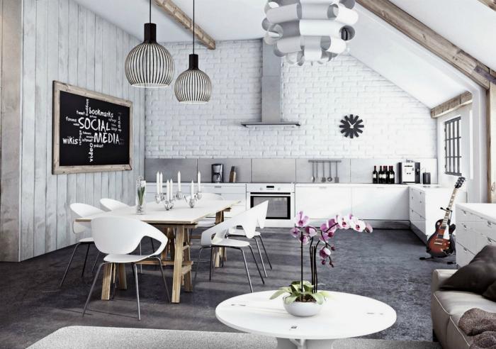Кухня совмещенная с гостиной - идеальное решение для квартир с крохотной кухней. Главное правило обустройства - минимализм и грамотное зонирование пространства.
