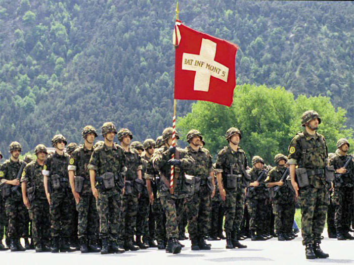 Служба в швейцарской армии. | Фото: Фокус.