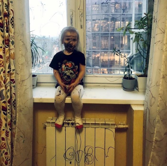 Когда дома подрастает творческая личность. | Фото: Liked.